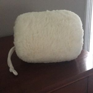 White Fake Fur Muff